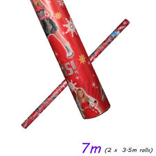 15M Luxury Christmas Wrapping Paper Roll Nordic Xmas Red Blue Gift Wrap WCSY