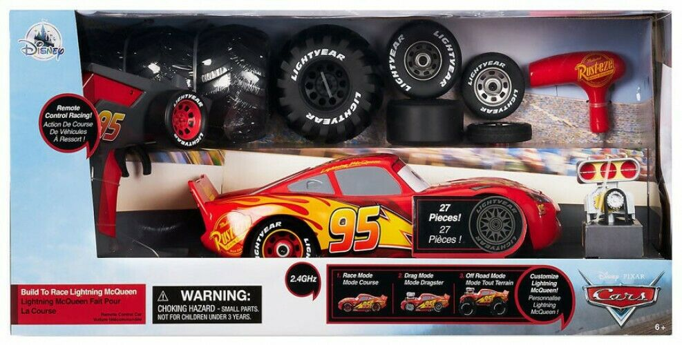 Pixar Cars Build to Race Lightning McQueen Exclusive R C Remote Control Car