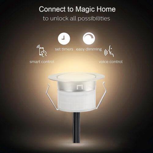 10er Set WIFI APP Controller LED Garten außen Einbaustrahler Beleuchtung Lampe