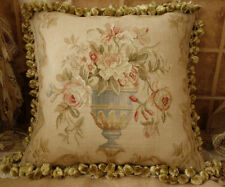 "18"" Gorgeous Traditional Hand-Woven 18th C. Reproduction Aubusson Throw Pillow"