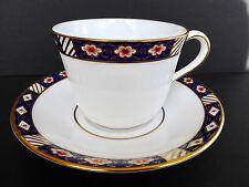 Royal Crown Derby Kedleston Tea Cup Saucer A1315 Imari Border England 1986 Vtg