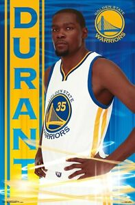 Kevin Durant Golden State Warriors Poster 22x34 Nba Basketball