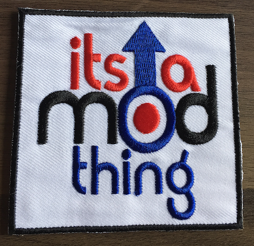 It/'s A Sick World and I/'m a Happy Guy Biker Iron or Sew on Patch UK Seller
