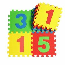 Soft Number Jigsaw Puzzle Children Kids learning Play Mat 10Pc, 30cm X 30cm