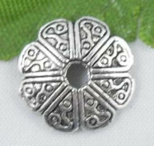 wholesale 50//166Pcs Silver Plated Bead Caps13x3mm (Lead-Free)