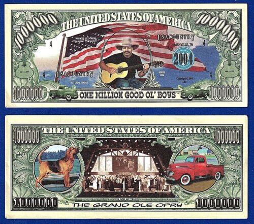 Country Western  Dollar Bills 2 Music Song Band Novelty FAKE Play MONEY-B4