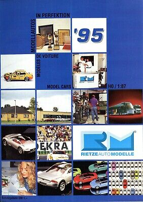 Nett Rietze Automodelle Katalog 1995 Prospekt Modellautos Catalog Model Cars Brochure