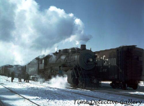 Santa Fe Railroad Freight Train Illinois Chicago Historic Photo Print 1943