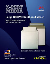 25 x Large CD/DVD Cardboard Wallet with Peel and Seal Flap 350 GSM