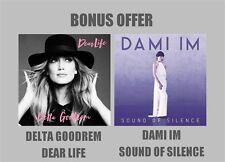 DELTA GOODREM Dear Life / DAMI IM Sound Of Silence 2CD SINGLES DOUBLE PACK