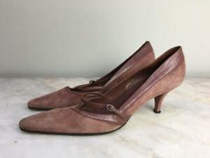 L Sport Uk Bennett Trim Suede Heels Pink W k Leather Rose Size 9 Dusty Kitten qErZqtwx