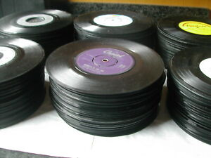 JOB-LOT-40-X-7-034-SINGLES-ALL-AGES-NO-SLEEVES-JUKEBOX-UPCYCLING-POST-FREE