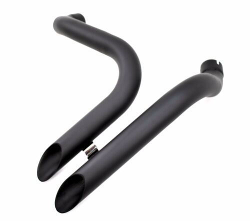 "Exhaust Header Set Drag Pipes Harley Ironhead Sportster 1 3//4/"" Black LAF L.A.F"