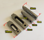 thumbnail 2 - 4pcs Wire EDM Stainless Jig Holder Clamping 70 x 22 x 12 mm M8 x 1.25 Screw