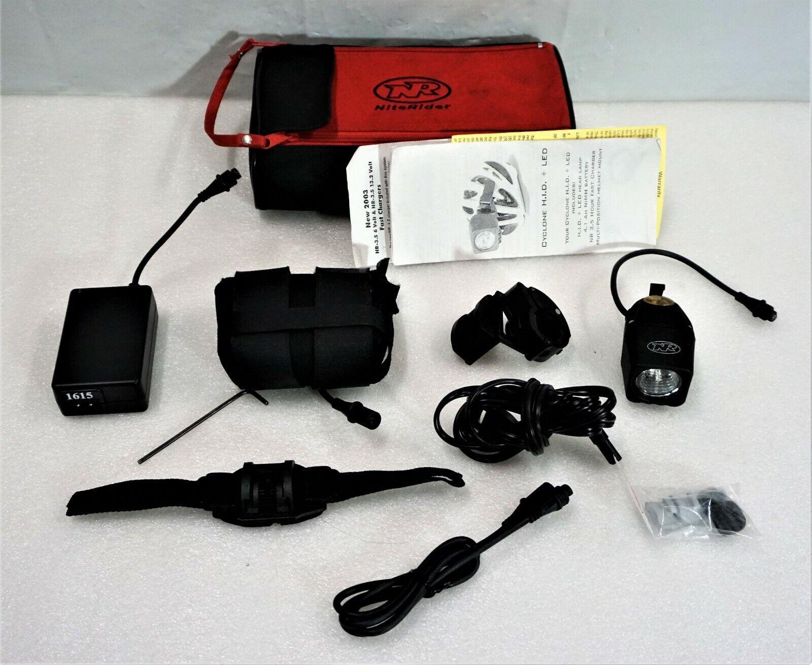 NiteRider Cyclone H.i.d. + LED luz estroboscópica Seguridad Casco de bicicleta como-es