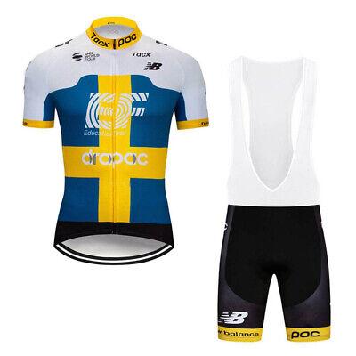 2019 Men Summer Cycling jerseys MTB bike quick dry bicycle 9D Bib shorts Set A94