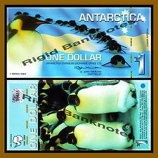 Antarctica $1 Dollar, 1 March 2007 Polymer Unc