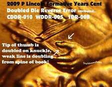 2009 P Lincoln Cent Penny Doubled Die FY WDDR-005 ERROR Coin