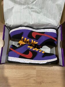 NIKE-SB-DUNK-LOW-PRO-ACG-TERRA-Size-11-BQ6817-008-BLACK-SUNBURST-VARSITY-PURPLE