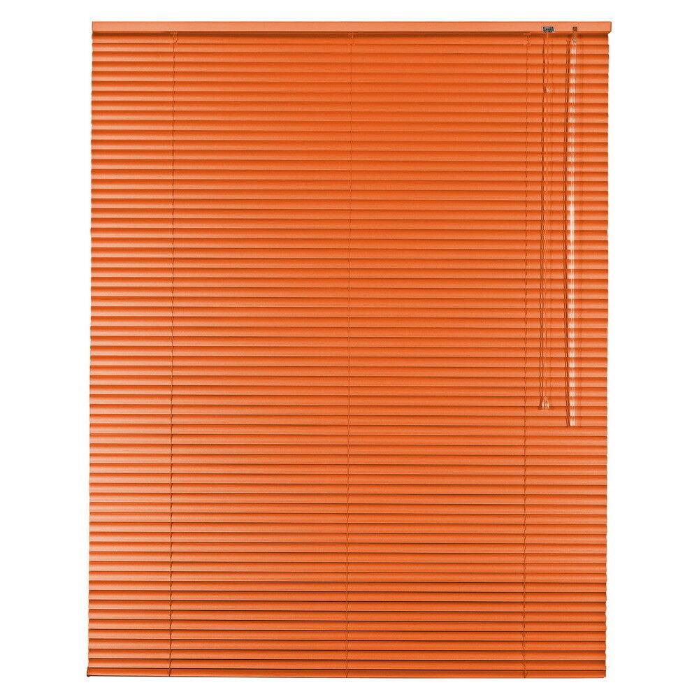 Aluminium Jalousie Alu Jalousette Jalusie Fenster Tür Rollo - Höhe 160 cm Orange | Ruf zuerst