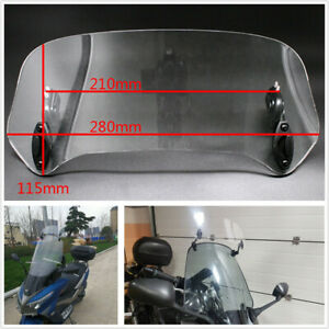 RKRZLB Motorcycle windshield Clip-on windshield spoiler Windscreens Wind Deflectors Extension Screen Deflector Spoiler fit for BMW R 1200 GS R1200GS Adventure R1200RT F800GS F 800 GS Color : Brown