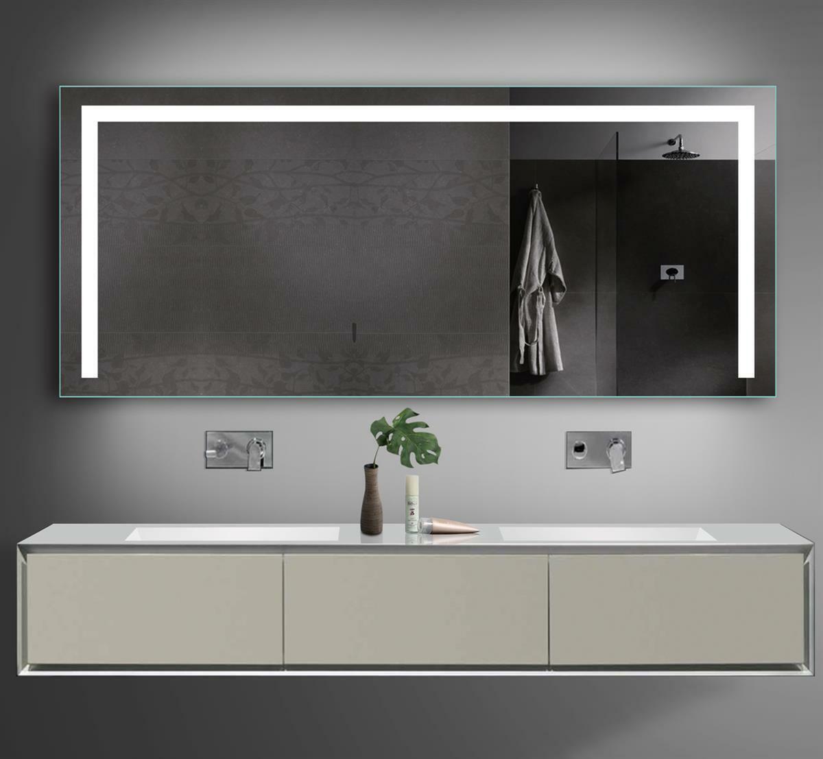 LED beleuchtet Kalt Warm weiß licht Bad Badezimmer Wand spiegel Steckdose 160