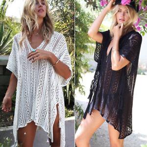 52e637105cf3 New Sexy Women Lace Crochet Bathing Suit Bikini Swimwear Cover Up ...