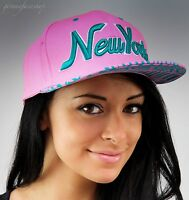 NY snapback caps, hip hop baseball flat peak fitted hats, unisex bling pink