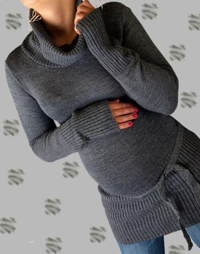 Umstandsjacke Strick Shirt Umstandspullover Gr.36-40 Rollkragen Pullover,Tunika