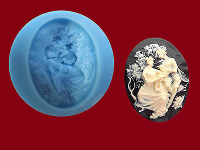 Lady And Man Cameo Mould Silicone, Sugarcraft, Cake Toppers, Jewellery Food Safe