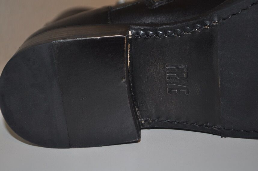 NEW  348+ FRYE VICKY Engineer Boot Black Leather Mid Mid Mid Bootie Sz 6.5 19e656