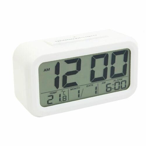 Groß Wecker LCD-Display Büro Tisch Sensor Kalender Temperatur Thermometer