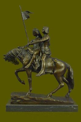 Bronze Handgefertigt Abstract Zeitgenössisch Liebespaar Auf Pferd Reine Bronze Skulptur Latest Fashion Metallobjekte
