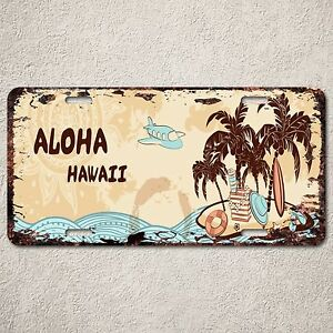 LP0165-Old-Vintage-Aloha-Hawaii-Sign-Auto-License-Plate-Home-Store-Gift-Decor