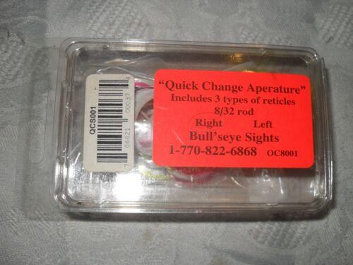 Changement rapide Aperature par Bull/'s Eye Aperature droite 3 types recticles 8//32 Rod