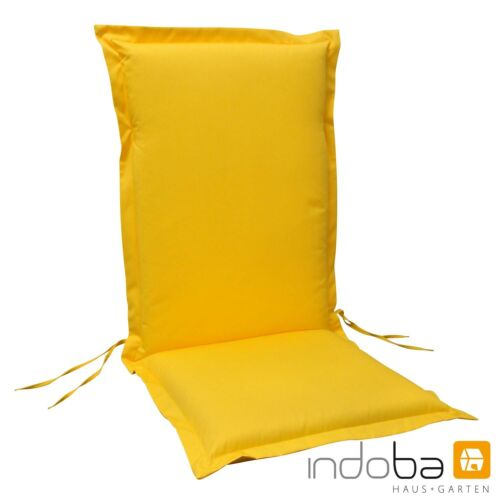 4 x Sitzauflage Hochlehner Polsterauflage Stuhlauflage Auflage extra dick Gelb