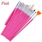 15Pcs/Set Nail Art Acrylic UV Gel Design Brush Set Painting Pens Tips Tools Kit