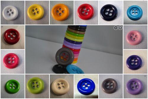 B246-28mm 5 Gran Payaso 4 Agujero De Plástico Italiano Botones-Elija El Color