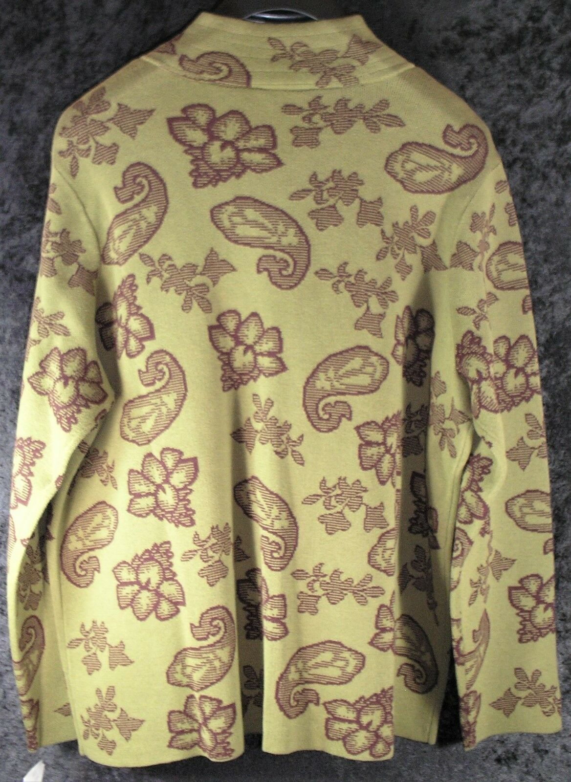 Womens JH Collectibles 1X 1X 1X Cardigan Sweater - Green Paisley Floral - NWT ef04ef