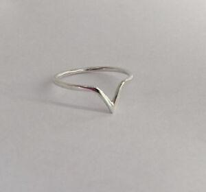 Fashion V Ring Silver V Ring V Knuckle Ring Gold  Chevron V Ring Sterling Silver Thin V Ring Stackable Ring