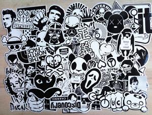 60-Random-Stickers-Vinyl-Skateboard-Guitar-Travel-Case-sticker-pack-decals-Mix