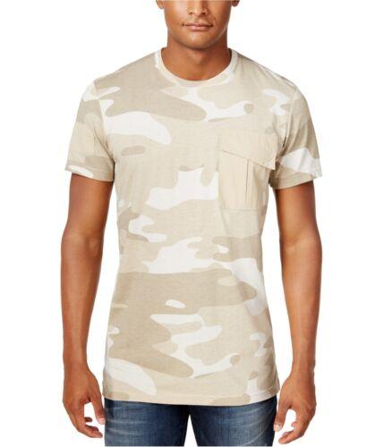 beige Small American Rag Mens Pocket Basic T-Shirt