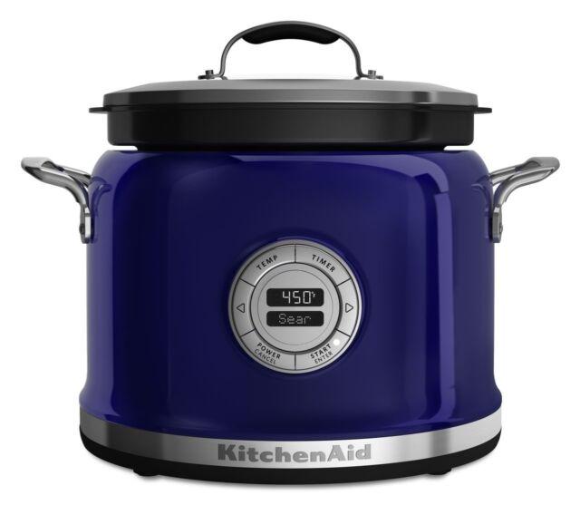 Beau KitchenAid Multi Cooker RKMC4241BU 4 Qt All InOne Cooking System Cobalt Blue