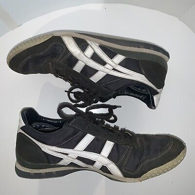 huge selection of e4530 3eb99 Asics Onitsuka Tiger HN201 Mens 8.5 Black & Silver Athletic Sneakers Shoes  Used | eBay