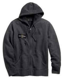 "Harley-Davidson Men/'s Black 2XL Hoodie sweatshirt /""Rusty Logo/"" B/&S NEW"
