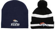 2 Denver Broncos Super Bowl Knits Hats Caps Beanies Knit Hat Cap Beanie New Era