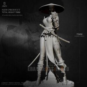 1//24 Resin Figure Model Kit player Princess Gunner Woman unpainted unassembled