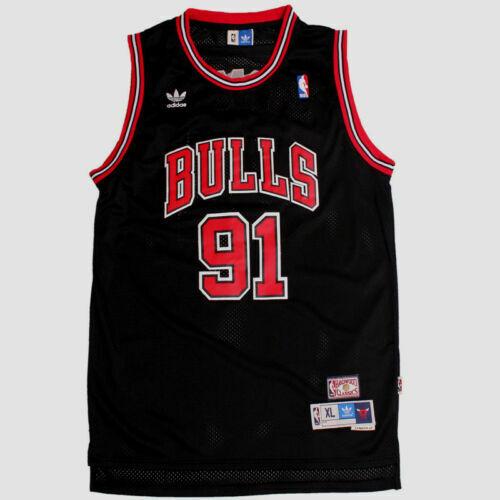 New Chicago Bulls Dennis Rodman # 91 Retro Swingman Basketball Mesh Jersey