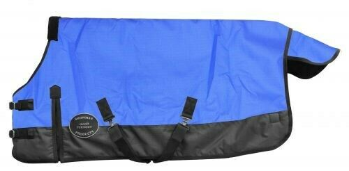 mostrareuomo blu Adjustable 5662 1200 Denier Winter PONYYEARLING cavallo Blanket