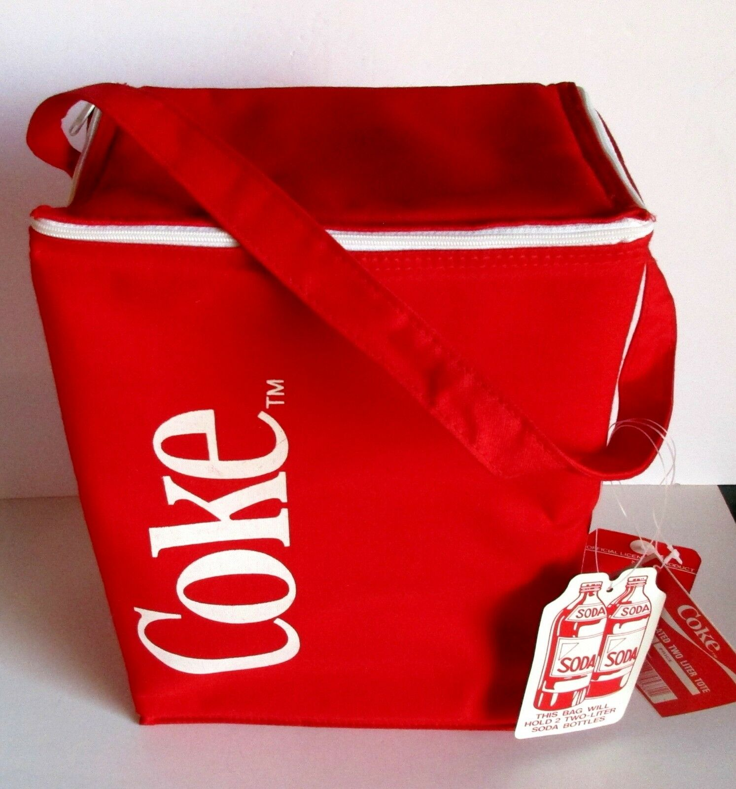 Details about  /Collectible  Red Tote Bag white Insulated Coca-Cola Cooler Bag cat J778